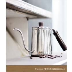 Driver Premium Pouring Kettle with Crude Wood